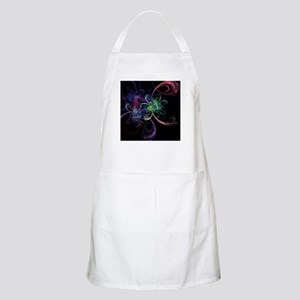 Abstract Art Space Flowers Light Apron