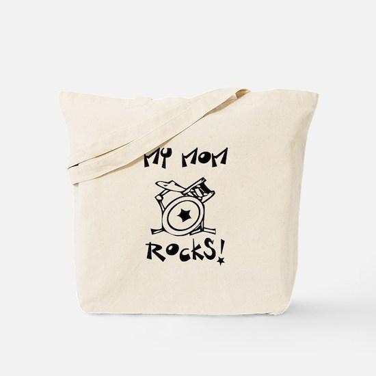 My Mom Rocks Drums Tote Bag