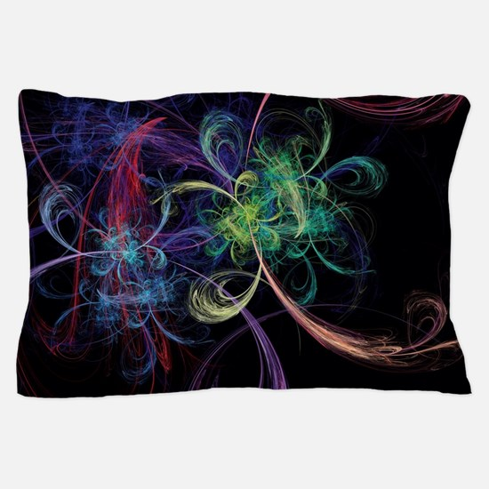 Abstract Art Space Flowers Pillow Case