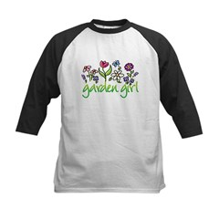 Garden Girl 2 Kids Baseball Jersey