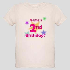Custom 2nd Happy Birthday Organic Kids T Shirt