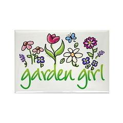 Garden Girl 2 Rectangle Magnet