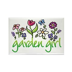 Garden Girl 2 Rectangle Magnet