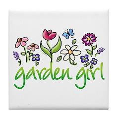 Garden Girl 2 Tile Coaster