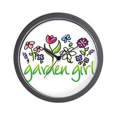 Garden Girl 2 Wall Clock