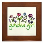 Garden Girl 2 Framed Tile