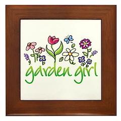 Garden Girl 2 Framed Tile