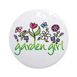 Garden Girl 2 Ornament (Round)