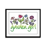 Garden Girl 2 Framed Panel Print