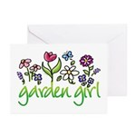 Garden Girl 2 Greeting Cards (Pk of 10)