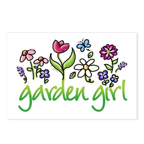 Garden Girl 2 Postcards (Package of 8)