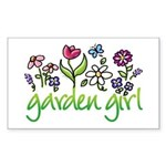 Garden Girl 2 Rectangle Sticker