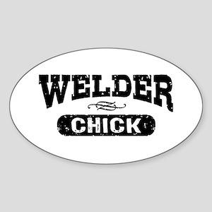 Welder Chick Sticker (Oval)