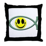 Jesus Is My Happiness Throw Pillow