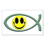 Jesus Is My Happiness Rectangular Sticker