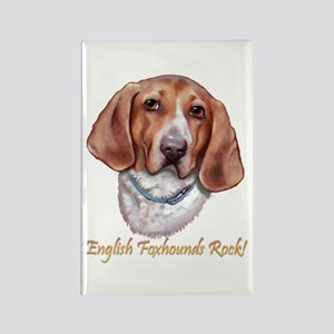 Englisg Foxhounds Rock Rectangle Magnet