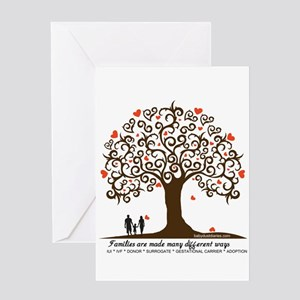 INFERTILITY Family Tree Greeting Card