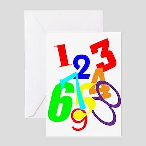 NUMBERS II Greeting Card