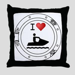 I Heart Waverunners Throw Pillow
