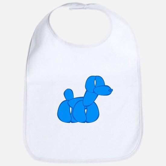 Blue balloon dog Bib