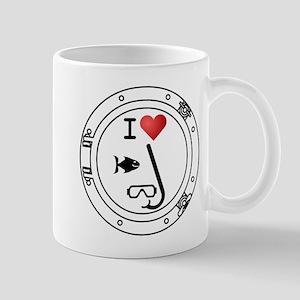 I Heart Snorkeling Mug