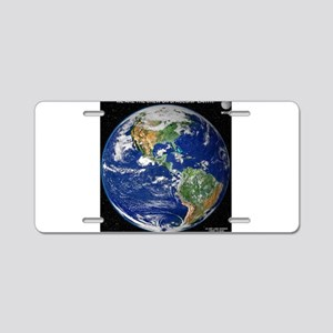 SPACESHIP EARTH Aluminum License Plate
