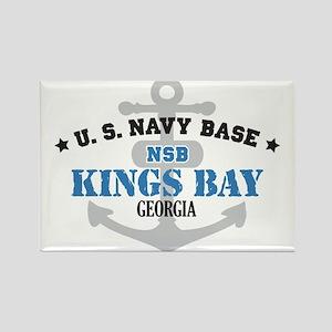 US Navy Kings Bay Base Rectangle Magnet