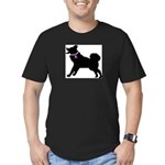 Alaskan Malamute Breast Cance Men's Fitted T-Shirt