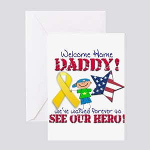 Welcome home daddy greeting cards cafepress welcome home daddy greeting card m4hsunfo