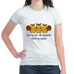 One by one, the squirrels Jr. Ringer T-Shirt