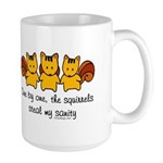 One by one, the squirrels Large Mug