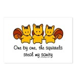 One by one, the squirrels Postcards (Package of 8)