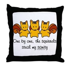 One by one, the squirrels Throw Pillow