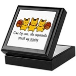One by one, the squirrels Keepsake Box