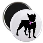 Boston Terrier Breast Cancer Support Magnet