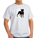 Boston Terrier Breast Cancer Support Light T-Shirt