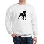 Boston Terrier Breast Cancer Support Sweatshirt