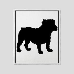 Bulldog Silhouette Throw Blanket