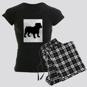 Bulldog Silhouette Women's Dark Pajamas