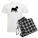 Bulldog Breast Cancer Support Men's Light Pajamas