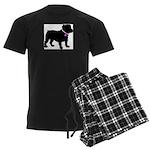 Bulldog Breast Cancer Support Men's Dark Pajamas