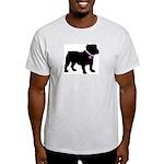 Bulldog Breast Cancer Support Light T-Shirt