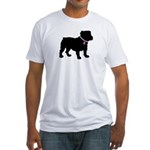 Bulldog Breast Cancer Support Fitted T-Shirt