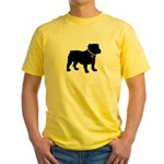 Bulldog Breast Cancer Support Yellow T-Shirt
