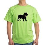 Bulldog Breast Cancer Support Green T-Shirt