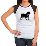 Bulldog Breast Cancer Support Women's Cap Sleeve T
