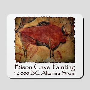 Bison Cave Painting Petroglyph Mousepad