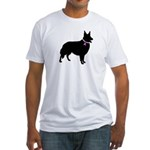 Collie Breast Cancer Support Fitted T-Shirt