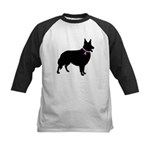 Collie Breast Cancer Support Kids Baseball Jersey