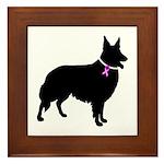 Collie Breast Cancer Support Framed Tile
